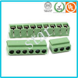 De douane de Hoogte van 5.0 mm schroefte EindBlok van 3 PCB van de Speld het Groene