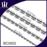 De hete Halsband van de Ketting van de Bal van Metaal Kleurrijke 3.2mm van de Verkoop