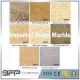 Crema Polished/amarillo/losas de mármol amarillentas para los azulejos de suelo