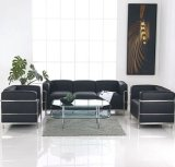 Sofà di cuoio dell'ufficio di LC3 Le Corbusier del sofà moderno di ricezione dell'ufficio