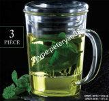 Tazza di vetro saltata mano, POT del tè, tazza termoresistente del Borosilicate della tazza di tè