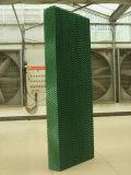 Application de garniture humide dans le système de refroidissement pour la serre chaude, atelier industriel d'usine