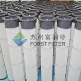Cartouche filtrante plissée par polyester d'usine de la colle de Forst