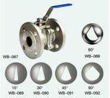 Le V-Type acier inoxydable a bridé robinet à tournant sphérique avec le support de fixation direct