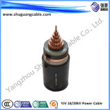 33kv escogen el cable de cobre subterráneo de la base 500mm2 XLPE