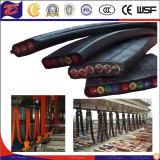 Grúas de caucho de silicona de carros portacables flexible plano
