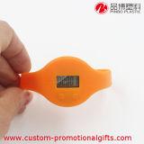 Sports intelligents de silicone orange exécutant le Pedometer de marche de bracelet