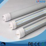 Las luces del tubo de la alta calidad LED T8 de la aprobación de la UL Dlc de los mercados de norteamericano los 4FT 18W borran proyectos de la decoración de la cubierta SMD2835 G13 120lm/W de la PC