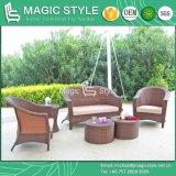 Sofà americano stabilito di stile del sofà di vimini stabilito del giardino del sofà del rattan del patio impostato (stile magico)