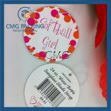 Etiqueta redonda de la tarjeta de papel (CMG-062)