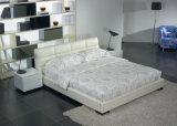 フォーシャン中国の家具の現代白人の柔らかい王/二重サイズの革ベッド(9209)