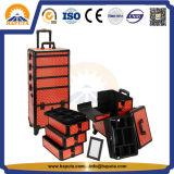grande caixa cosmética do trole 5-in-1 para o salão de beleza com rodas (HB-3305)