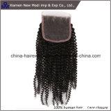 中国の人間の毛髪の拡張巻き毛のレースの閉鎖