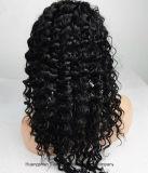 스위스 레이스 페루 머리 자연적인 꼬부라진에 있는 정면 레이스 가발