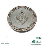 Pièces de monnaie maçonniques personnalisées de souvenir de logo en métal pour le cadeau de promotion