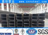 tubo del cuadrado del acero de carbón de 100X100m m para el material de construcción del metal