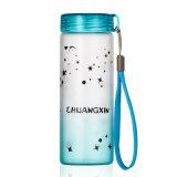 bottiglia di acqua a parete semplice di vetro glassato 350ml
