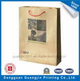 Haute Qualité Fleur Imprimé Brown Kraft Paper Shopping Bag