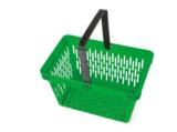 Корзины для товаров завальцовки оптового супермаркета пластичные с колесами 09063