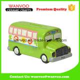 Regalo di ceramica di Promotioal di figura del bus per il contenitore di soldi