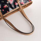 Impermeable británicos Retro Style Floral PVC bolsos de lona