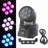 1 DJ Disco Party LED Wash Moving Head Lightに付きより安いMini 7*10W RGBW 4