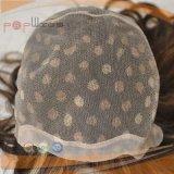 Peluca atada mano completa natural del cordón del color del pelo humano (PPG-l-0055)