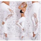 Spandex хлопка пригонки женщин джинсыы шнурка Waisted сексуального тощего низкие