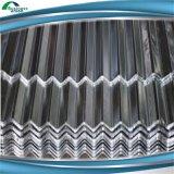 Materiales de material para techos de acero acanalados galvanizados cubiertos color de PPGI
