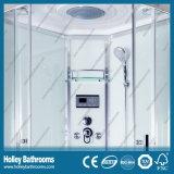 Vendible Cabina de ducha con Nano y la rueda doble rodillo para puertas corredizas (SR214W)