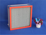 Filtro dell'aria a temperatura elevata di Resistants HEPA del documento di vetro della fibra