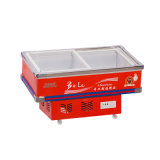 85kg Bevel Glass Door Seafood Freezer met LED Light
