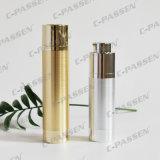 化粧品の包装のための金の銀製のアクリルねじ空気のないびん(PPC-NEW-015)