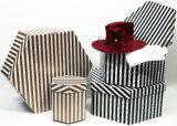 Rectángulos de almacenaje de los ornamentos, rectángulo del chocolate, rectángulo de color, rectángulo de zapato acanalado, rectángulo del sombrero, rectángulo de regalo de papel del día de fiesta (001)