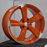Красная линия колеса Matt черная алюминиевого сплава автомобиля для Audi