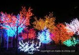 Decorazione esterna del LED di ciliegia del fiore dell'indicatore luminoso variopinto dell'albero