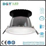 Le boîtier en aluminium d'affaires conçoit 33W 6 le projecteur DEL de plafond de lampe d'endroit de pouce IP40