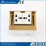 Tipo de bronze caixa da imprensa do soquete do assoalho com tomadas universais