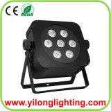 DMX512 inalámbrico plana de hasta 15W Rgabw LED luz de la Navidad