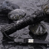 LED Single Mode Mini 1AA Batterie Tail Switch Aluminum Flashlight