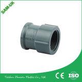Garnitures de pipe sanitaire égales grises du couplage de garnitures de pipe de PVC de couleur/Socket/PVC