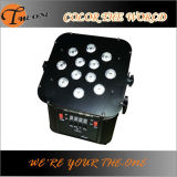 le PAIR plat de Powred de radio et de batterie de 12*17W RGBWA+UV 6in1 LED peut