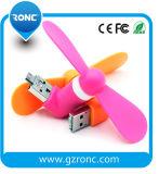 AndriodおよびiPhone Smartphoneのための熱い販売の小型USBのファン