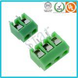 관례는 5.0 mm 피치 3개의 Pin 녹색 PCB 끝 구획을 조였다