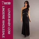 Black Party One Shoulder Women Evening Dress (L5009)
