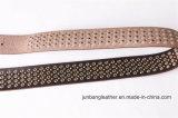 Qualitäts-Mann-Jeans-Leder-Niet-Riemen-Stift Belt-Jbe1626