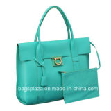 Leather genuino Handbags con Pocket Womentote Bags Customized Handbags Md6068 Md6069 Md6070