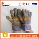 ブラウンの家具の革装備者作業手袋(DLF409)
