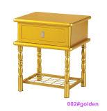 現代白い木および金属のベッドサイド・テーブルNightstand (002#White)