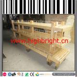 Carrello di legno della visualizzazione del forno di figura del vagone